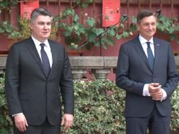 Srečanje Pahorja in Milanovića
